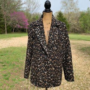 Forever 21 Faux Fur Leopard Blazer